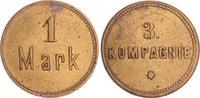 1 Mark Militärgeld 3.Kompanie ca. 1910 Deu...