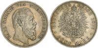 5 Mark 1876 F Württemberg 5 Mark Württemberg, Karl 1876 F  Patina ss  65,00 EUR  +  7,50 EUR shipping