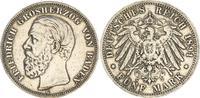 5 Mark Friedrich I. 1891 G Deutschland / Kaiserreich / Baden Baden 5 Ma... 425,00 EUR  +  8,95 EUR shipping