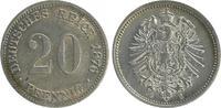 20 Pfennig 1876 G Kaiserreich 20 Pfennig 1876 G vorzüglich + vz+  28,00 EUR  +  7,50 EUR shipping