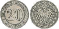 20 Pfennig 1892 F Kaiserreich 20 Pfennig 1892 F ss ss  50,00 EUR  +  7,50 EUR shipping