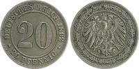 20 Pfennig 1892 E Kaiserreich 20 Pfennig 1892 E ss-vz ss-vz  85,00 EUR  +  7,50 EUR shipping