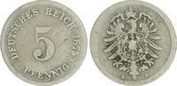 5 Pfennig 1875 H Deutschland / Kaiserreich Kaiserreich 5 Pf. J.3  1875 ... 25,00 EUR  +  7,50 EUR shipping