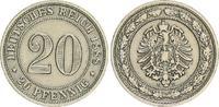 20 Pfennig 1888 E Kaiserreich 20 Pfennig 1888 E ss ss  35,00 EUR  +  7,50 EUR shipping