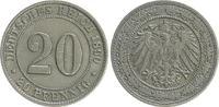 20 Pfennig 1890 G Kaiserreich 20 Pfennig 1890 G ss ss  70,00 EUR  +  7,50 EUR shipping