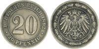 20 Pfennig 1892 E Kaiserreich 20 Pfennig 1892 E ss ss  75,00 EUR  +  7,50 EUR shipping