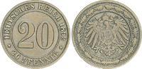 20 Pfennig 1892 G Kaiserreich 20 Pfennig 1892 G ss ss  110,00 EUR  +  7,50 EUR shipping