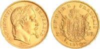 20 Francs 1870 Frankreich/Napoleon III. Fr...