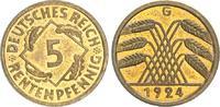 5 Pfennig 1924 G Deutschland / Weimar 5 Pf...
