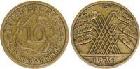 10 Pfennig 1931G Deutschland / WEIMAR WEIM...