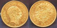 5 Mark Gold 1877 E 1877 E Sachsen 5 Mark G...