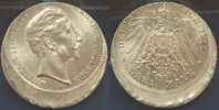 3 Mark Fehlprägung, dezentriert 1911 A Deu...