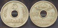 5 Heller 1913 J Kolonien / Ostafrika Deuts...
