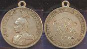 1 Rupie als Anhänger mit Monogramm ca.1897...