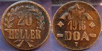 20 Heller Dünnabschlag, Kupferlegierung 19...