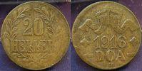 20 Heller 1916T Kolonien Deutsch-Ostafrika...