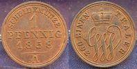 1 Pfennig 1858 A Altdeutschland / Schaumbu...