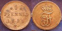 1 Pfennig 1831 Altdeutschland / Mecklenbur...
