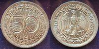 50 Pfennig 1936 G Deutschland / 3.Reich 3....