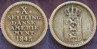 10 Skilling 1845 Dänemark/ Westindien Däne...