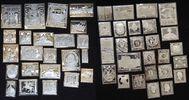 49 Briefmarkennachbildungen in Sterling-  ...