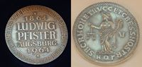 Augsburg Silber Medaille LUDWIG PFISTER 25...