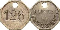 Wertmarke Nr.126 Kaiserl.Hafenbauamt SWA c...