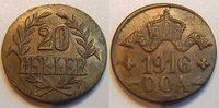 20 Heller 1916T Kolonien Deutsch-Ostafrika Deutsch-Ostafrika 20 Heller ... 350,00 EUR  +  8,95 EUR shipping