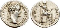 """Denarius AD 36-37 Rome TIBERIUS. """"TRI..."""