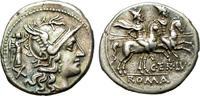 Denarius 147 B.C. Roman Republic Nice issu...