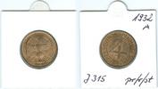 4 Reichspfennig 1932 A Nach Stabilisierung...