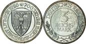 3 RM 1926 Deutschland 700 Jahre Reichsfreiheit Lübeck PP-