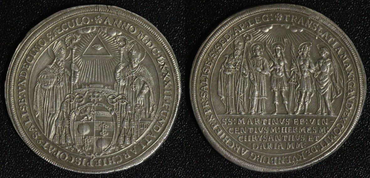 Reichstaler 1682 Salzburg, Erzbistum Max Gandolph v. Küenburg (1668-87) -  1100 Jahre Erzstift vz/ sehr attraktiv