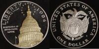 1 Dollar 1994 USA Capitol PP, teilvergoldet  30,00 EUR  +  10,00 EUR shipping
