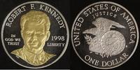 1 Dollar 1998 USA Kennedy PP, teilvergoldet  30,00 EUR  +  10,00 EUR shipping