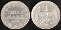 3 Mark 1924 A Weimarer Republik Kursmünze ss, Randfehler  15,00 EUR  +  10,00 EUR shipping