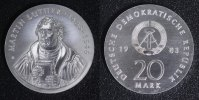 20 Mark 1983 DDR  Martin Luther f.st/f.Kr.  300,00 EUR  +  10,00 EUR shipping
