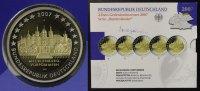 BRD Satz 5x 2 Euro  Mecklenburg-Vorpommern, Schloss Schwerin - A-J - Gedenkmünzenset