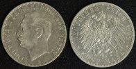 5 Mark 1908 G Baden Friedrich II. gutes ss/kl.Rf.  55,00 EUR  zzgl. 5,00 EUR Versand