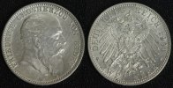 2 Mark 1904 G Baden Friedrich gutes vz/min.ber.  89,00 EUR  zzgl. 5,00 EUR Versand