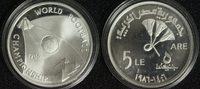 5 Pfund 1986 Ägypten Fußball-WM PP*/min.berieben  19,00 EUR  +  10,00 EUR shipping
