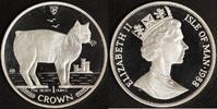 1 Crown 1988 Isle of Man Manx Cat - Elisabeth II. (Silber) P.P.  75,00 EUR  +  10,00 EUR shipping