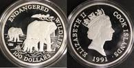 100 Dollars - 5 Unzen mit Zert. 1991 Cook Island Wildlife PP  149,00 EUR  +  10,00 EUR shipping