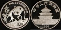 10 Yuan 1990 China Panda st in Kapsel