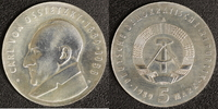5 Mark 1989 DDR Ossietzky vz-st  50,00 EUR  +  10,00 EUR shipping