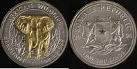 1000 Schillings 2004 Somalia Elefant vz-st, teilvergoldet  95,00 EUR  +  10,00 EUR shipping