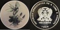 1000 Dobras 1998 Sao Tomé e Principe Kolibri Hologramm P.P.  45,00 EUR  +  10,00 EUR shipping