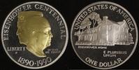 1 Dollar 1990 USA Eisenhower PP, teilvergoldet  20,00 EUR  +  10,00 EUR shipping