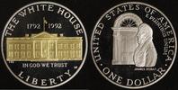 1 Dollar 1992 USA White House PP, teilvergoldet  20,00 EUR  +  10,00 EUR shipping