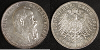 5 Mark 1911 Bayern Prinzregent Luitpold vz  85,00 EUR  +  10,00 EUR shipping